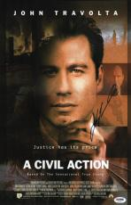 John Travolta Signed A Civil Action 11x17 Movie Poster Psa Coa V28825
