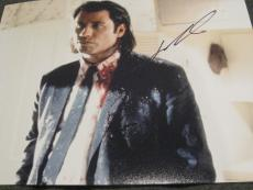 JOHN TRAVOLTA SIGNED AUTOGRAPH 8x10 PHOTO PULP FICTION PROMO IN PERSON RARE D
