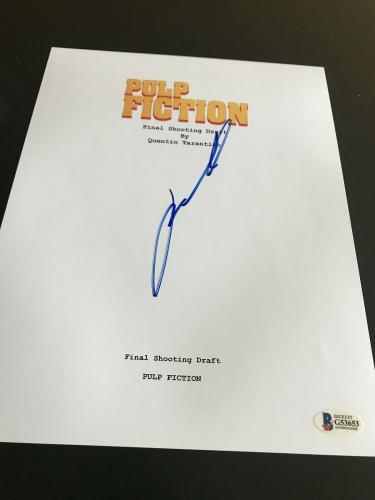John Travolta Signed Autograph Movie Script Pulp Fiction In Person Coa Auto E