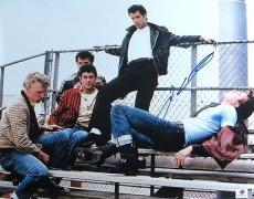 John Travolta Signed Autographed 11X14 Photo Grease Singing on Bleachers 788773