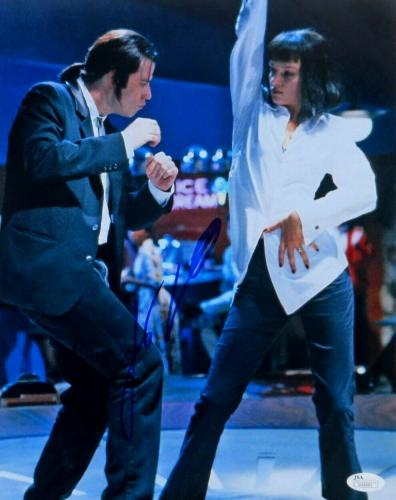 John Travolta Signed Autographed 11X14 Photo Pulp Fiction Dancing JSA U16561