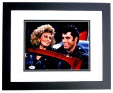 John Travolta Signed - Autographed GREASE 8x10 inch Photo BLACK CUSTOM FRAME - JSA Certificate of Authenticity