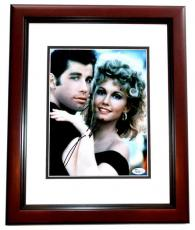 John Travolta Signed - Autographed GREASE 8x10 inch Photo MAHOGANY CUSTOM FRAME - JSA Certificate of Authenticity