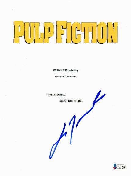 John Travolta Signed Autographed Pulp Fiction Full Movie Script Beckett Bas