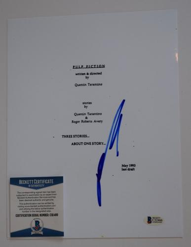 John Travolta Signed Autographed PULP FICTION Full Movie Script Beckett BAS COA