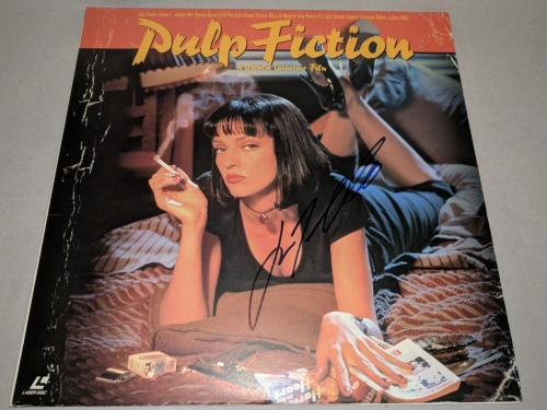 "JOHN TRAVOLTA signed autographed ""PULP FICTION"" LASERDISC BECKETT COA (BAS)"
