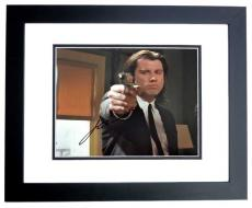 John Travolta Signed - Autographed PULP FICTION - Vincent Vega 8x10 inch Photo BLACK CUSTOM FRAME - Guaranteed to pass PSA or JSA