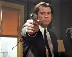 John Travolta Signed - Autographed PULP FICTION - Vincent Vega 8x10 inch Photo - Guaranteed to pass PSA or JSA