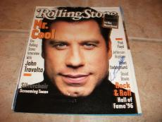 John Travolta Signed Autographed Rolling Stone Magazine Cover Photo