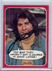 John Travolta Signed Autographed Trading Card Welcome Back Kotter 26 JSA U99018
