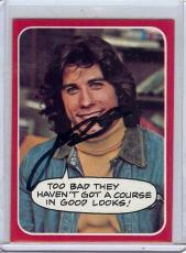 John Travolta Signed Autographed Trading Card Welcome Back Kotter 26 JSA U99018