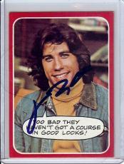 John Travolta Signed Autographed Trading Card Welcome Back Kotter 26 JSA U99019