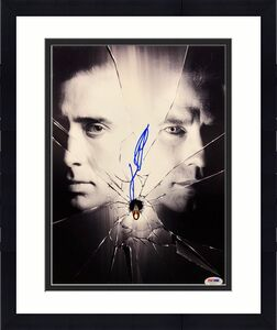 John Travolta Signed 'Face Off' 11x14 Photo *Nicolas Cage PSA AB35376