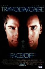 John Travolta Signed Face/off 11x17 Movie Poster Psa Coa V28822