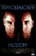 John Travolta Signed Face/off 11x17 Movie Poster Psa Coa V28823