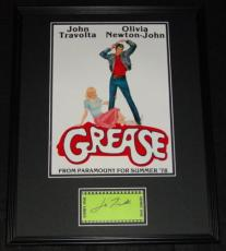 John Travolta Signed Framed 16x20 Photo Poster Display Grease
