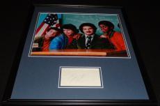 John Travolta Signed Framed 16x20 Photo Welcome Back Kotter