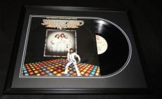 John Travolta Signed Framed 1977 Saturday Night Fever Record Album Display