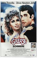 John Travolta Signed Grease 11x17 Movie Poster (germany) Psa Coa V28824