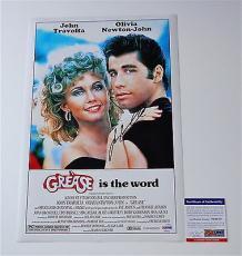 John Travolta Signed Grease 11x17 Movie Poster Psa Coa V28810