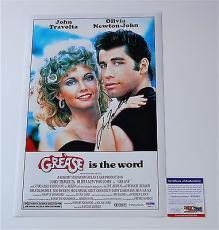 John Travolta Signed Grease 11x17 Movie Poster Psa Coa V28811