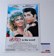 John Travolta Signed Grease 11x17 Movie Poster Psa Coa V28812