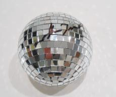 John Travolta Signed Grease Movie Disco Ball w/COA Grease Pulp Fiction