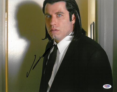 John Travolta Signed Pulp Fiction Autographed 11x14 Photo PSA/DNA #AB92569