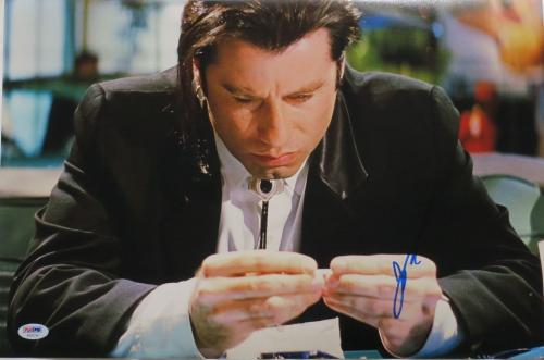 John Travolta Signed Pulp Fiction Autographed 12x18 Photo PSA/DNA #AB55744