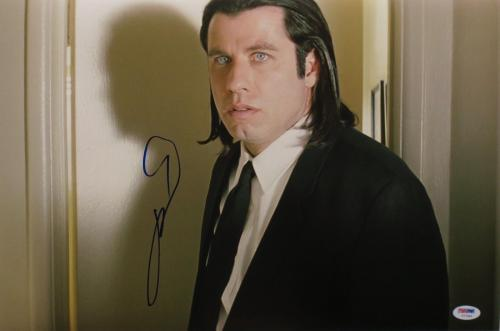 John Travolta Signed Pulp Fiction Autographed 12x18 Photo PSA/DNA #Y77940