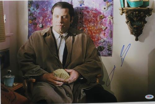 John Travolta Signed Pulp Fiction Autographed 12x18 Photo PSA/DNA #Z14363