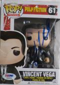 John Travolta Signed Pulp Fiction Autographed Funko Pop PSA/DNA #AB39760