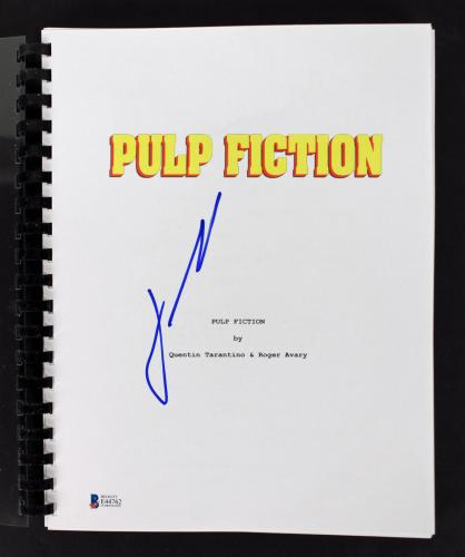John Travolta Signed Pulp Fiction Movie Script Autographed BAS #E44762