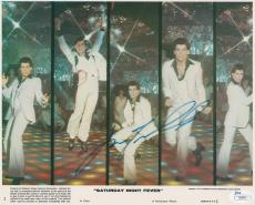 John Travolta Signed Saturday Night Fever 8x10 Photo JSA COA