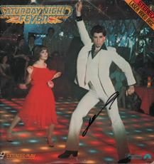 John Travolta Signed Saturday Night Fever Laser Disc Cover AFTAL