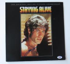 John Travolta Signed Staying Alive Autographed Record Album (PSA/DNA) #V26594