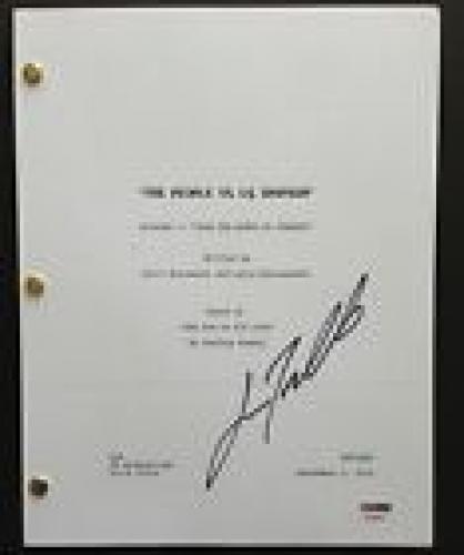 John Travolta Signed The People V Oj Simpson Pilot Script Full 60 Pages Psa Coa