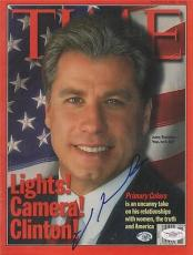 JOHN TRAVOLTA signed TIME MAGAZINE primary colors - 3/16/98 - AUTHENTICATED