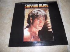 John Travolta Staying Alive Signed Autographed LP Album  PSA Guaranteed
