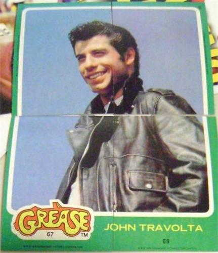 John Travolta trading card puzzle Grease 1978 Topps #67 68 69 70