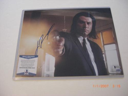 John Travolta Urban Cowboy,pulp Fiction Beckett/coa Signed 11x14 Photo
