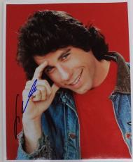 John Travolta Vinnie Barbarino Welcome Back Kotter Autographed 8x10 Photo 16B