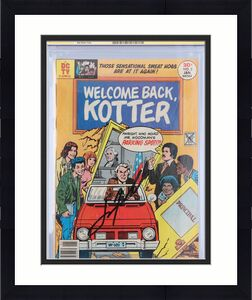 John Travolta Welcome Back Kotter Autographed Blue Comic Book - CGC 3.5