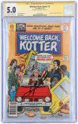 John Travolta Welcome Back Kotter Autographed Blue Comic Book - CGC 5.0