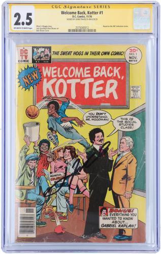 John Travolta Welcome Back Kotter Autographed Comic Book - CGC 2.5