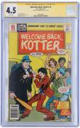 John Travolta Welcome Back Kotter Autographed Comic Book - CGC 4.5