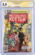 John Travolta Welcome Back Kotter Autographed Comic Book - CGC 5.0