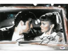 John Travolta/Olivia Newton-John Signed Grease Auto 11x14 Photo PSA/DNA #T68962