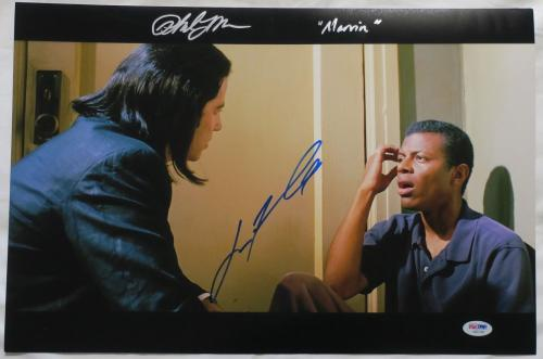 John Travolta/Phil Lamarr Signed Pulp Fiction Auto 12x18 Photo PSA/DNA #AB07399