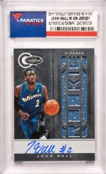 John Wall Washington Wizards Autographed 2011 Panini Totally Certified Rookie #151 Card with a Piece of Event Worn Jersey and a Limited Edition of 599 Pack
